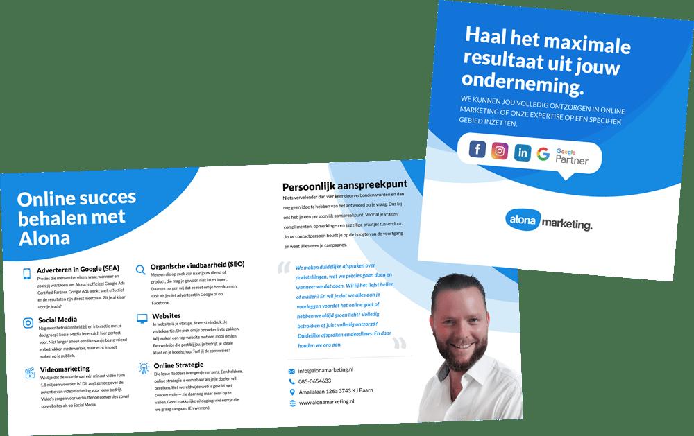 Brochure met Online Marketing diensten