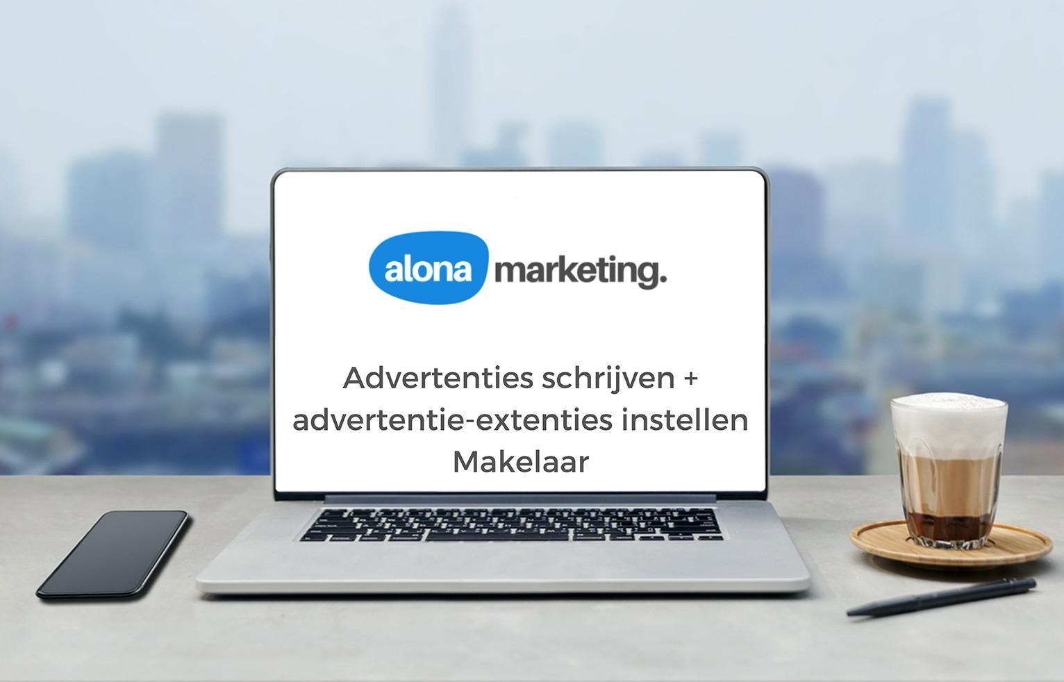 Advertenties schrijven + extensies instellen Makelaar