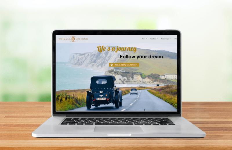 Wheels on tour webdesign